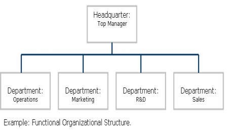 What is the definition of a functional organizational structure?